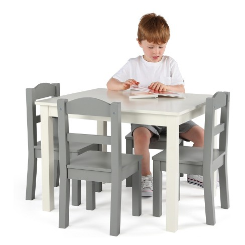 2de13e287c3 Tot Tutors Set Of 4 Chairs With Springfield Kids Wood Table Gray ...