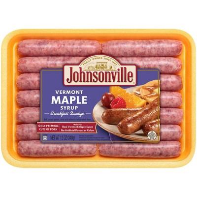 Johnsonville Vermont Maple Syrup Breakfast Sausage - 12oz