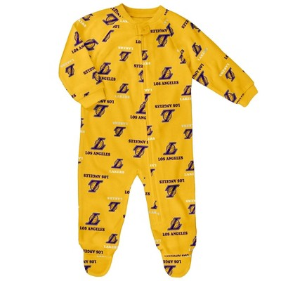 NBA Los Angeles Lakers Baby Boys' Sleeper - 12M