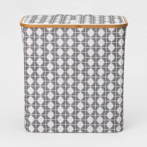 Laundry Hamper With Lid Geo Pattern