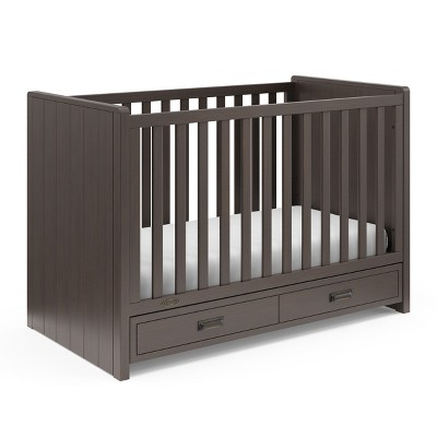 Graco Cottage 3-in-1 Convertible Crib with Drawer - Slate Gray