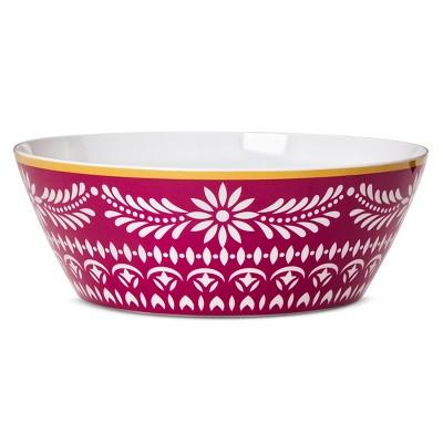 Boho Boutique 162oz Melamine Serving Bowl - Marika Floral Pink/Red