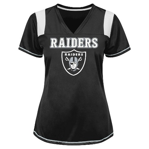 Oakland Raiders Women's Shimmer Top M - image 1 of 1