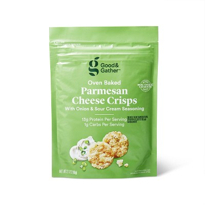 Parmesan Sour Cream and Onion Baked Cheese Crisp - 2.12oz - Good & Gather™