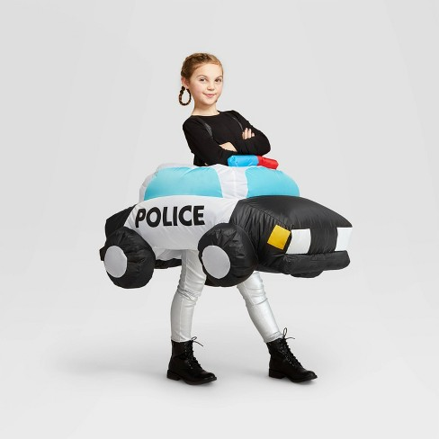 Halloween Costumes 2020 Inflatable Kids Size Kids' One Size Inflatable Police Car Halloween Costume Bodysuit