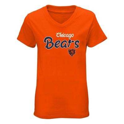 NFL Chicago Bears Girls' Short Sleeve V-Neck Core T-Shirt