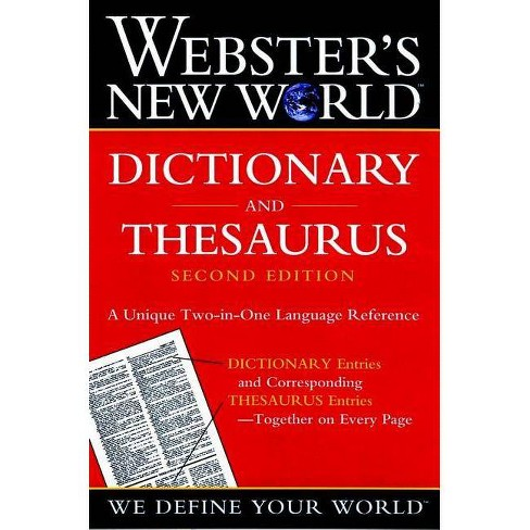 Webster's New World Dictionary and Thesaurus, 2nd Edition (Paper Edition) - 2 Edition (Paperback) - image 1 of 1