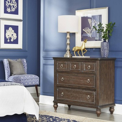 3 Drawer Southport Chest Dark Aged Oak - Home Styles