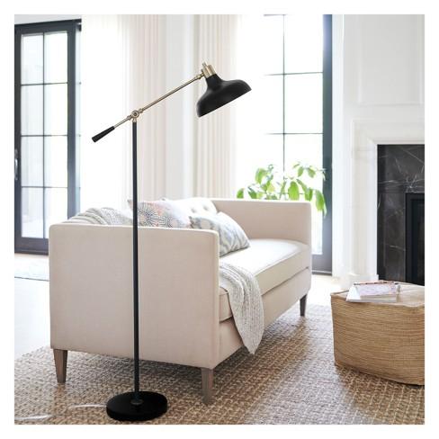 Crosby Schoolhouse Floor Lamp Black (Lamp Only) - Threshold™ : Target