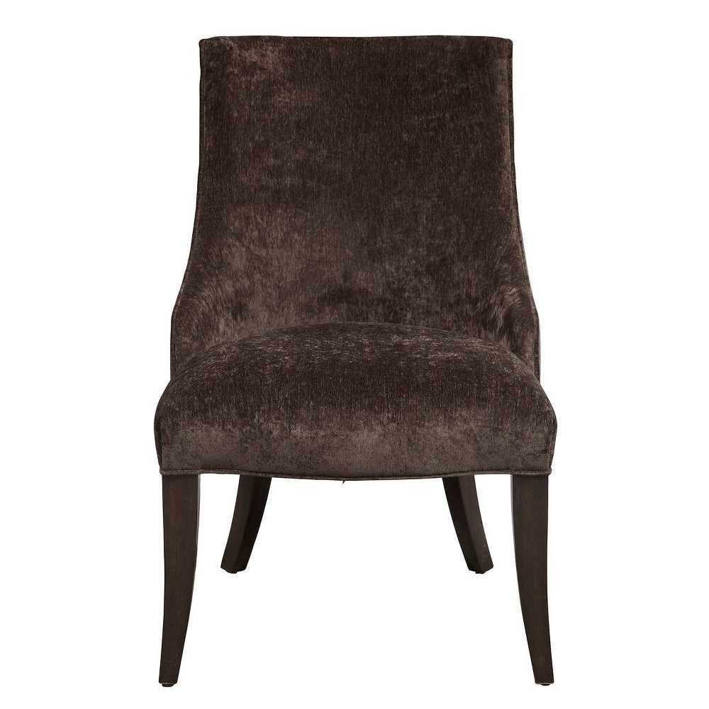 Leather and Fabric Shelter Back Dining Chair Gray - Pulaski