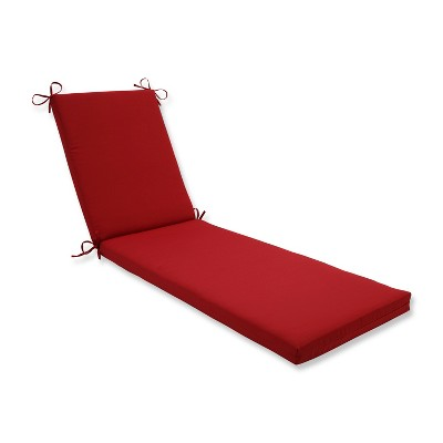 Indoor/Outdoor Pompeii Red Chaise Lounge Cushion - Pillow Perfect