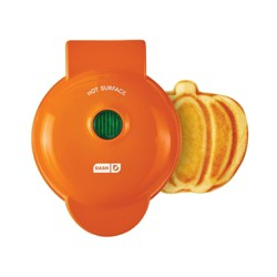 Dash Mini Pumpkin Shape Waffle Maker Orange