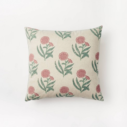 Floral Printed Throw Pillow - Threshold™ designed with Studio McGee - image 1 of 4