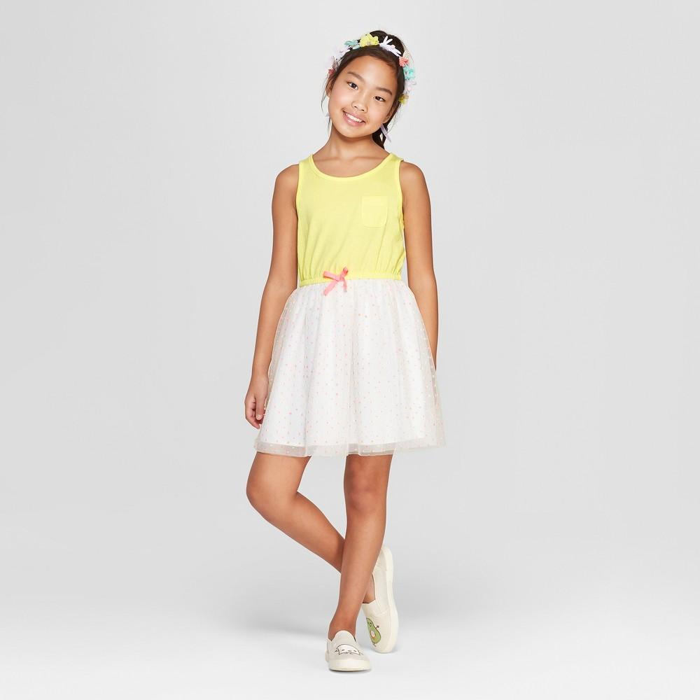 b2be606c7 Girls A Line Dress Cat Jack Yellow L