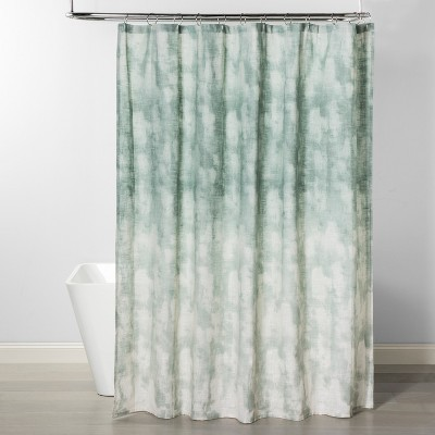 Jacquard Printed Shower Curtain Smoke Green - Project 62™