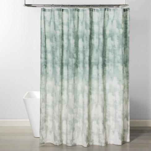 cbdcdbf72c Jacquard Printed Shower Curtain Smoke Green - Project 62™ : Target