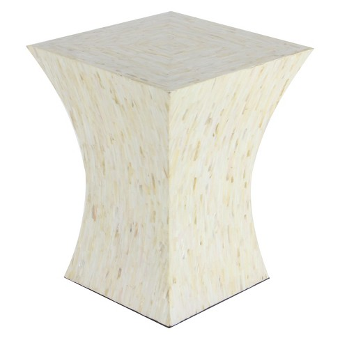 Tile and Wood Accent Table Beige - Olivia & May - image 1 of 4