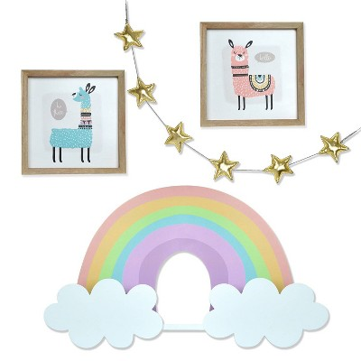 4pc Children's Llama Themed Room Set - New View