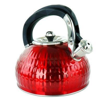 MegaChef 3L Stovetop Whistling Kettle - Red