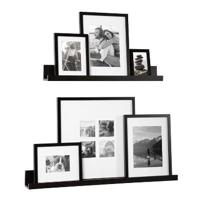 8pc Gallery Frame Box Set Black - Kate & Laurel All Things Decor