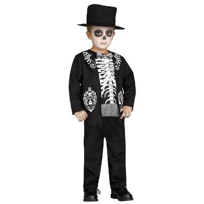 Kids' Skeleton King Halloween Costume - 4-6