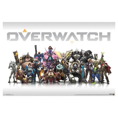 Overwatch Group Poster 34x22 - Trends International : Target