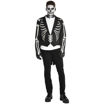 Adult Skeleton Tailcoat Halloween Costume One Size