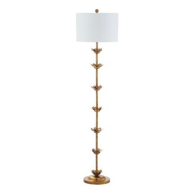 Landen Leaf 63.5 H Floor Lamp Antique Gold (Includes Energy Efficient Light Bulb)- Safavieh