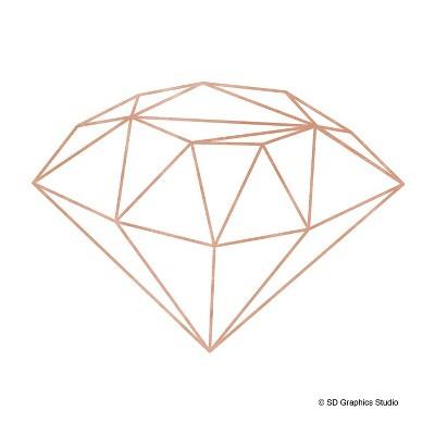 4pk Ceramic Rose Gold Geo Diamond Print Coasters - Thirstystone