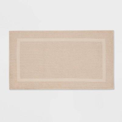"20""x34"" Performance Texture Cotton Memory Foam Bath Rug Tan - Threshold™"
