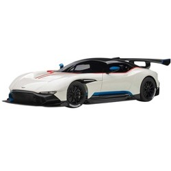 Aston Martin Vulcan Stratus White with Red and Blue Stripes 1/18 Model Car by Autoart