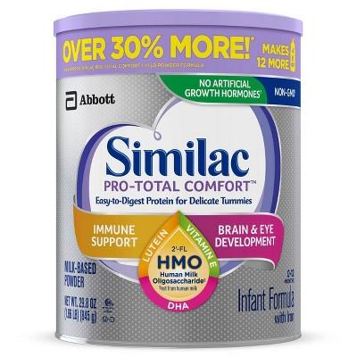 Similac 4pk Pro-Total Comfort Infant Formula with Iron Milk-Based Powder - 119.2oz