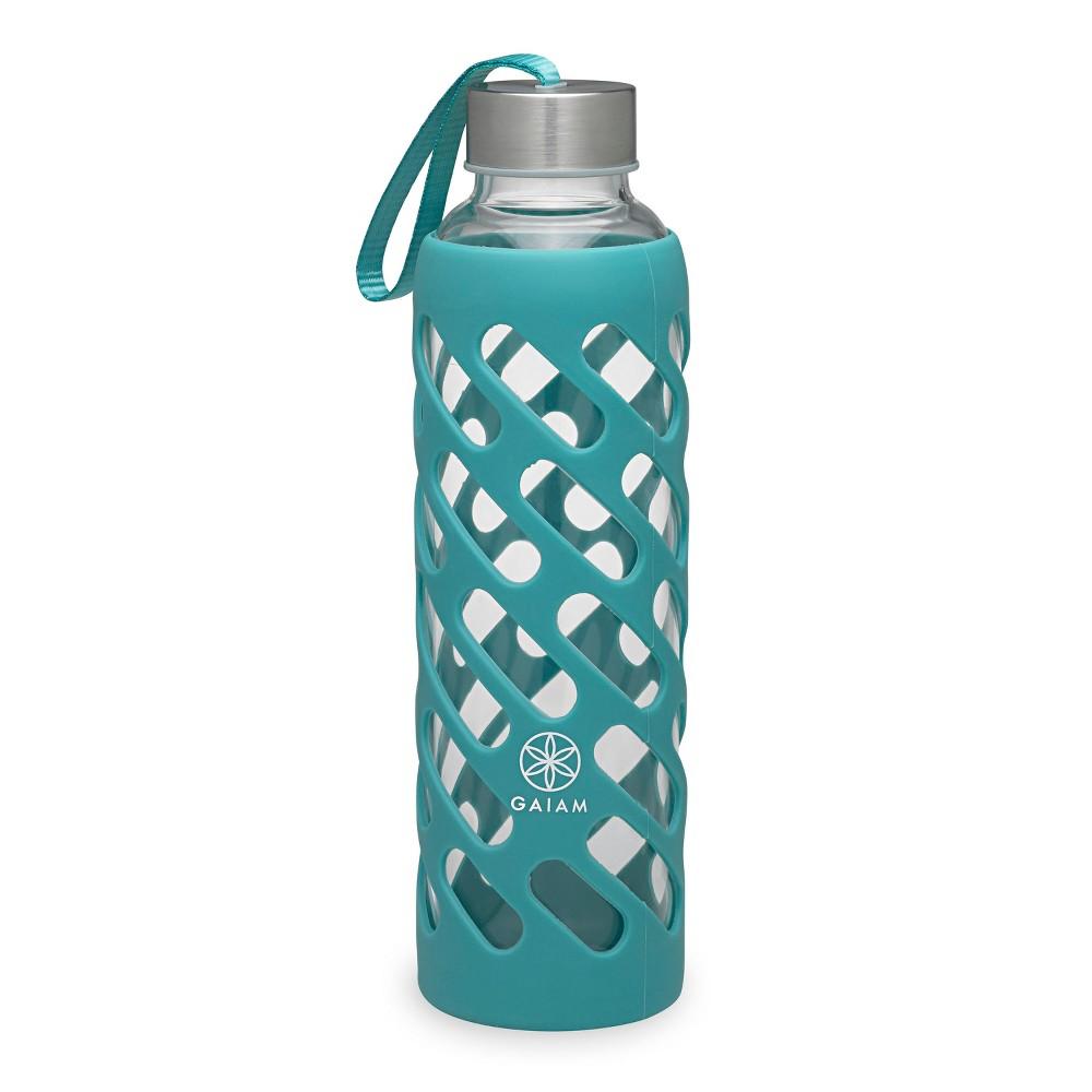 Gaiam Sure Grip Water Bottle - Vintage Aqua 20oz