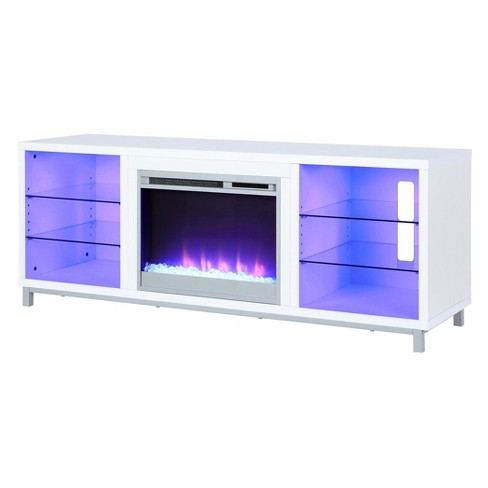 Yorkshire Fireplace Tv Stand For Tvs Up To 70 Wide White Room