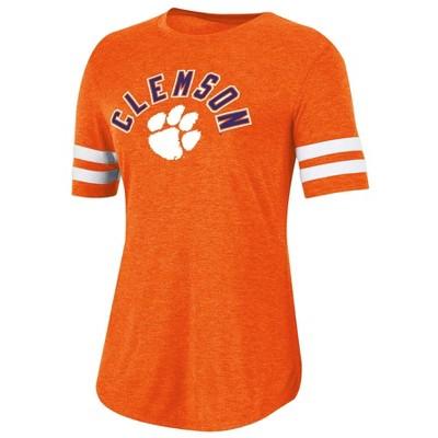 NCAA Clemson Tigers Women's Short Sleeve Crew Neck T-Shirt