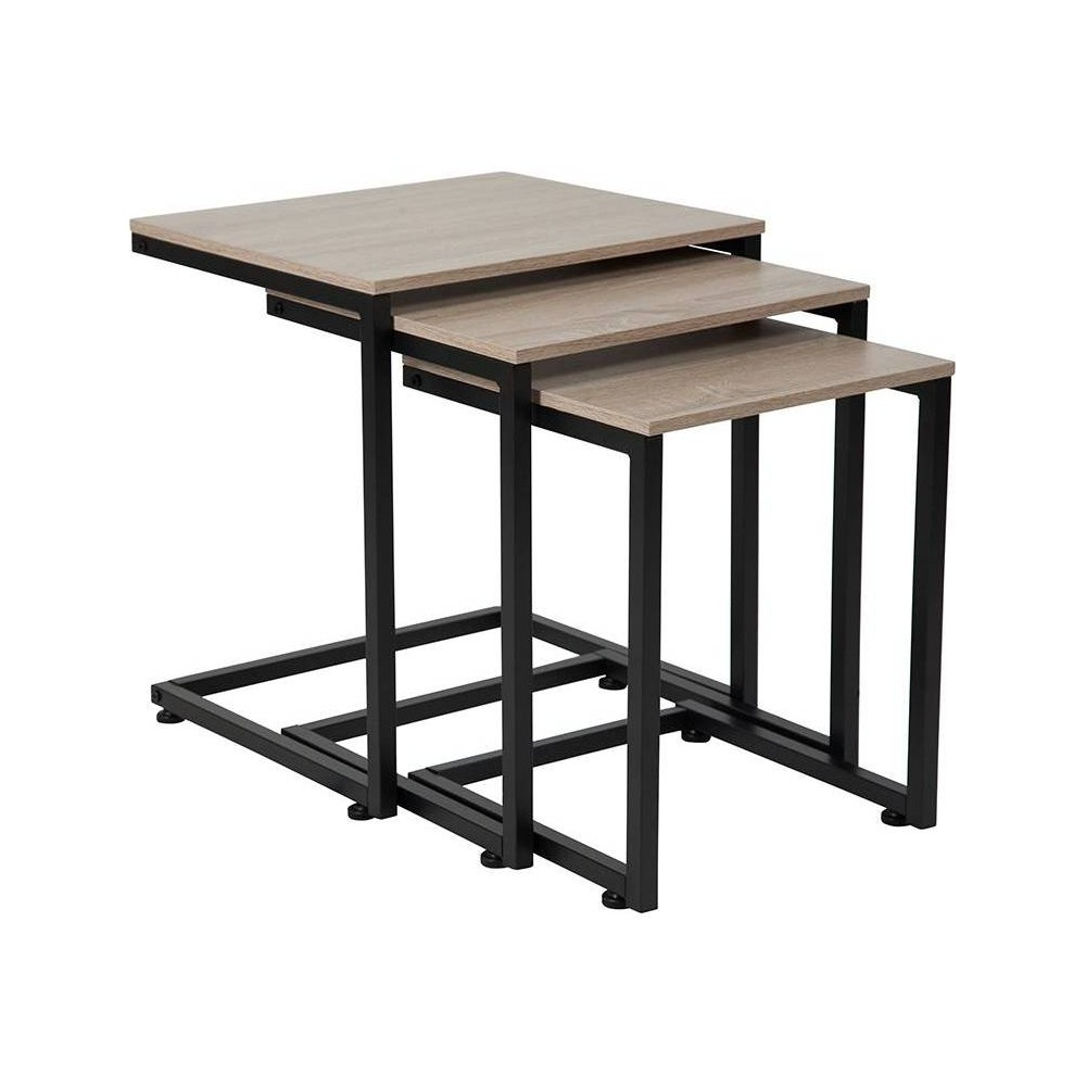 Midtown Nesting Tables Brown - Riverstone Furniture