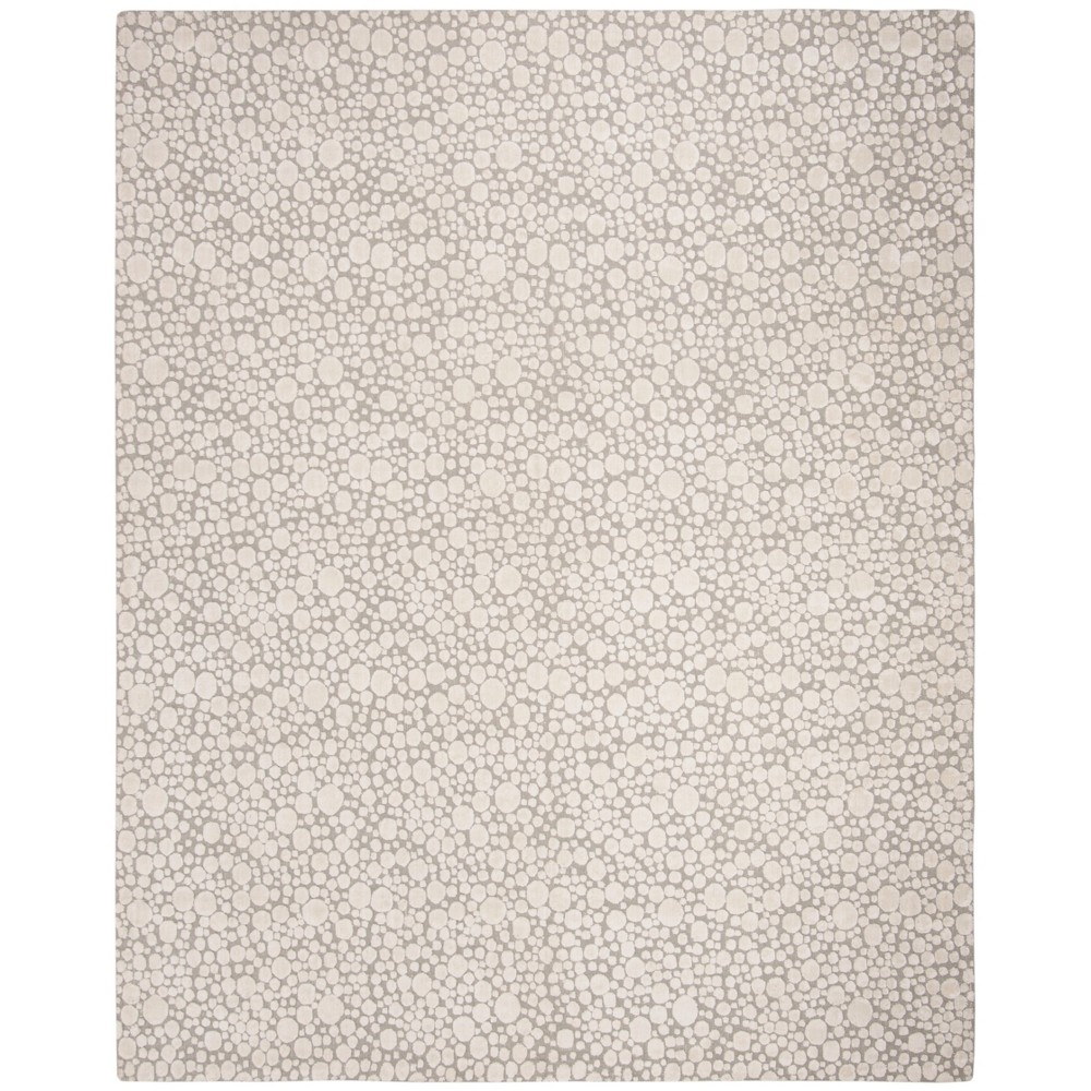 9'X12' Loomed Pebble Area Rug Silver - Safavieh, Silver/Ivory