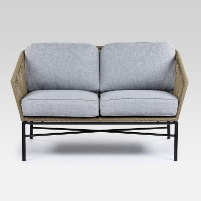 Standish Patio Loveseat Natural/Gray - Project 62™