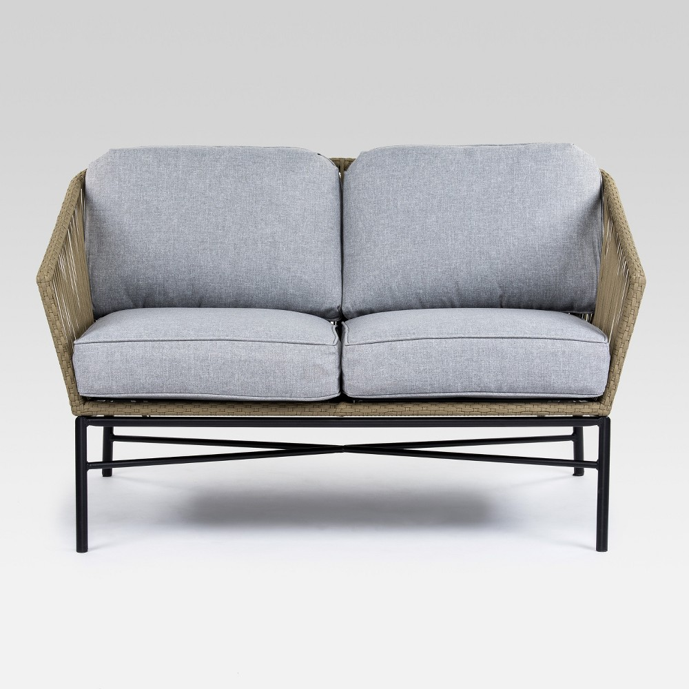 Standish Patio Loveseat Natural/Gray - Project 62