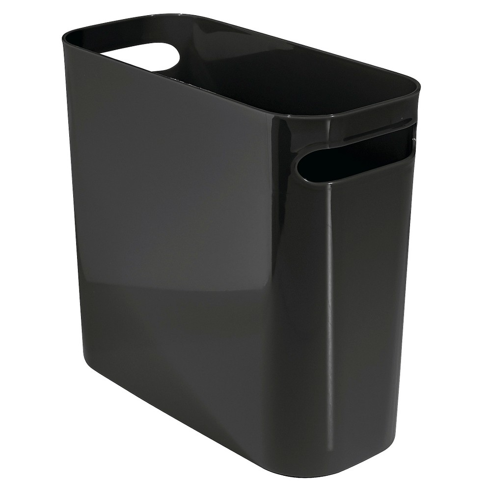 "Image of ""InterDesign Una Plastic Rectangular Wastebasket - Black (10"""")"""