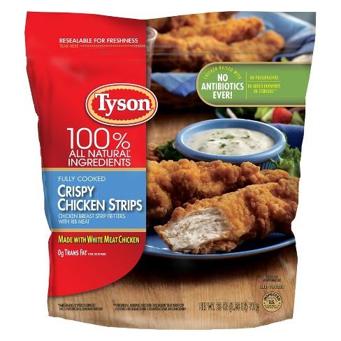 Tyson All Natural Crispy Frozen Chicken Strips - 25oz - image 1 of 3
