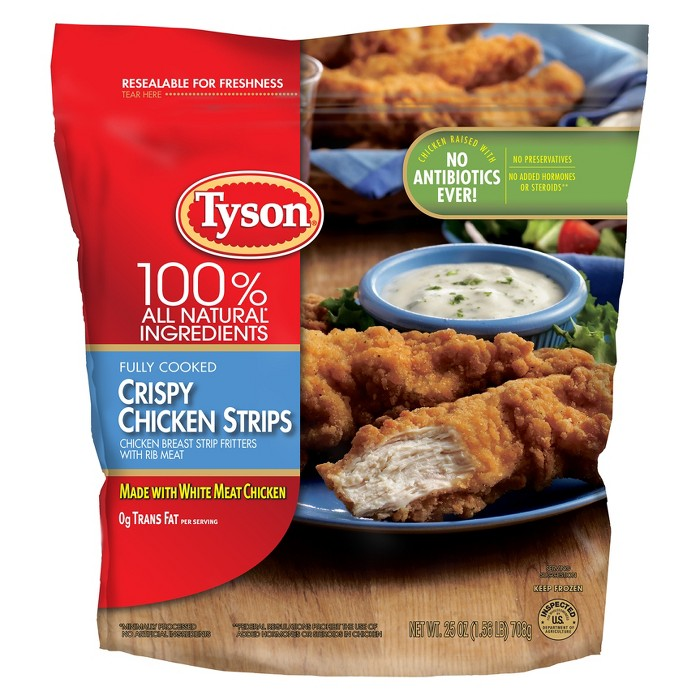 Tyson All Natural Crispy Chicken Strips - 25oz - image 1 of 2