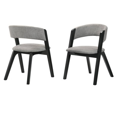 Set of 2 Rowan Upholstered Dining Chairs - Armen Living