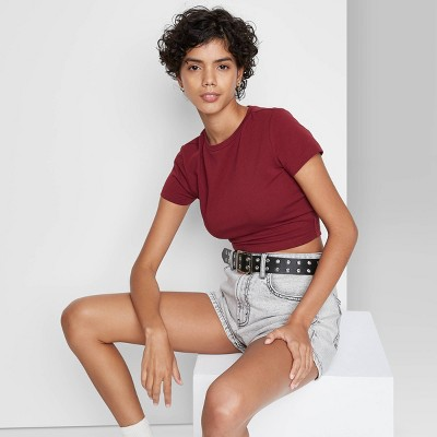 Women's Short Sleeve Cropped T-Shirt - Wild Fable™