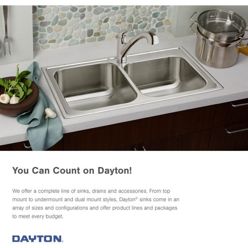 Sensational Elkay Dsesr12722 Dayton 27 Single Basin Drop In Stainless Steel Kitchen Sink Complete Home Design Collection Lindsey Bellcom