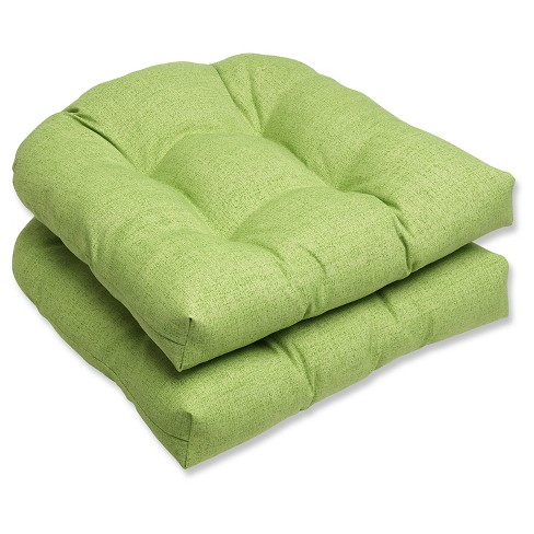 Outdoor 2 Piece Wicker Chair Cushion Set Green Target