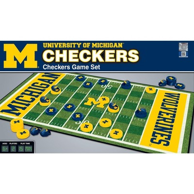 MasterPieces NCAA Michigan Checkers Board Game