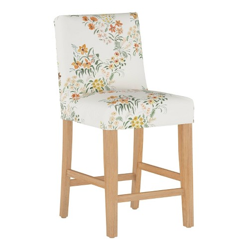 Slipcover Counter Stool Lucinda Floral Harvest - Cloth & Company - image 1 of 4