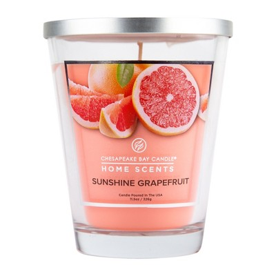 11.5oz Lidded Glass Jar Candle Sunshine Grapefruit - Home Scents By Chesapeake Bay Candle