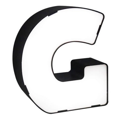 LED Neon Letter - G Novelty Table Lamp Brass - Room Essentials™ - image 1 of 1